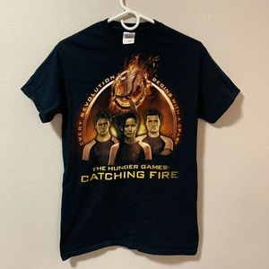 The Hunger Games catching fire promo t shirt